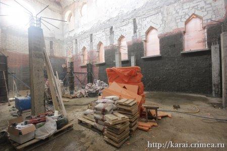 Ремонтно-реставрационные работы кенаса продолжаются - апрель 2021